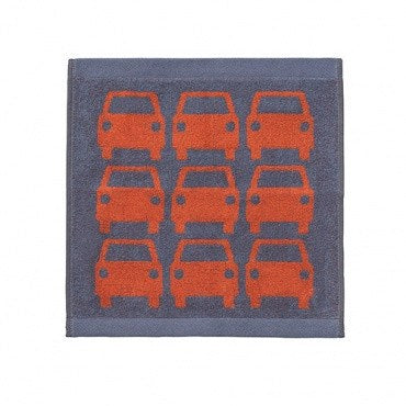 Kids Orla Kiely Red Car Bathroom Towels - Home Interiors