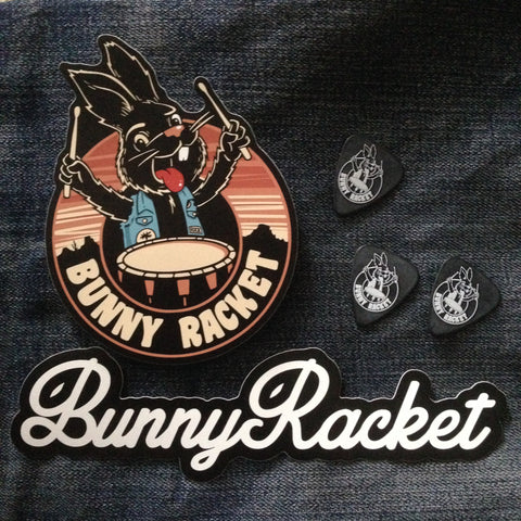 Bunny Racket stickers and picks pack!