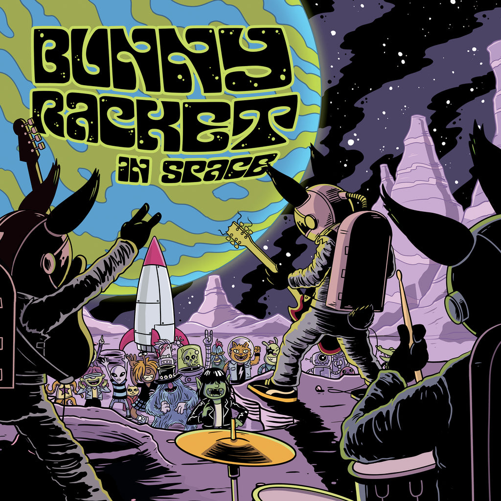 Bunny Racket In Space! CD pack.