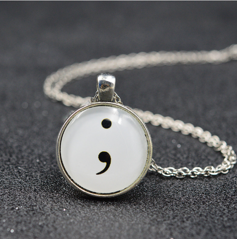 Semi Colon Necklace