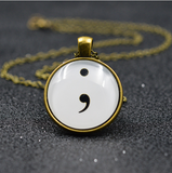 Semi Colon Necklace - Giveaway