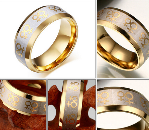 LGBT Titanium Fashion Ring
