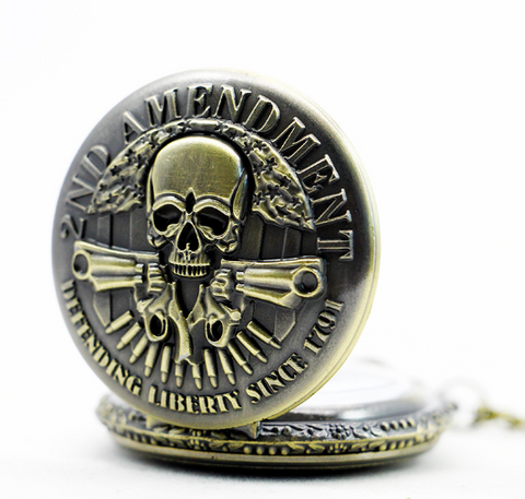 2nd Amendment Bronze Quartz Pocket Watch - Giveaway