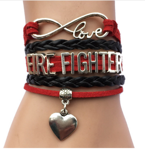 FIRE FIGHTER LOVE BRACELET