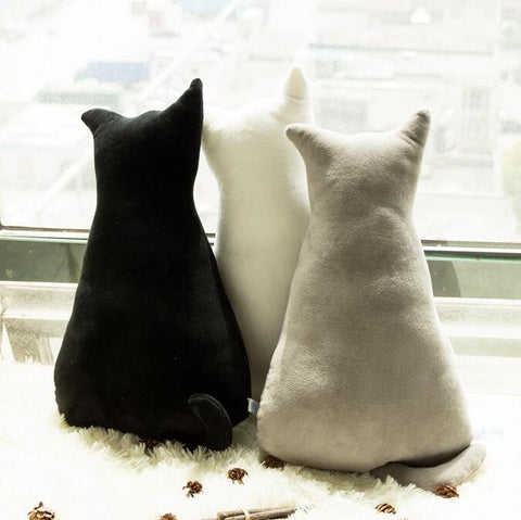 Cat Back Soft Plush Pillows