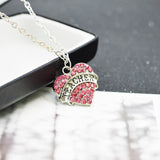 Teacher Rhinestone Heart Necklace