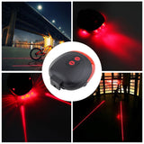 High Quality Laser Bicycle Rear Light (5 LED+2 Laser), Waterproof
