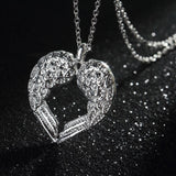 Angel Wings Heart Necklace - Offer