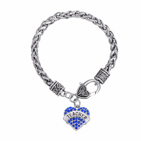 Teacher Heart Bracelet