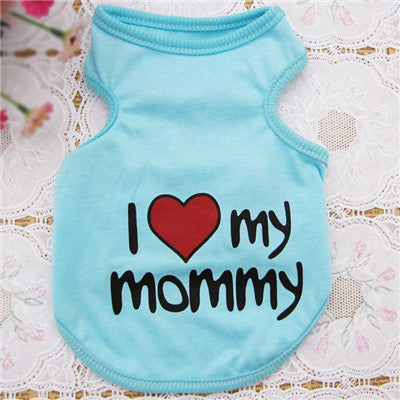 "Cute Dog T shirt ""I Love My Mommy"" Giveaway"