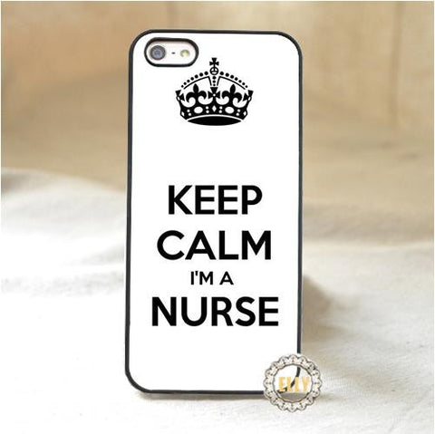 """Keep Calm I'm A Nurse"" iPhone Case"
