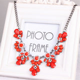 Colorful Diamond Gem Flower Necklace - Free Shipping