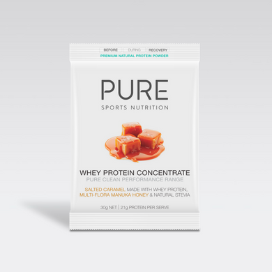 PURE WHEY PROTEIN HONEY SALTED CARAMEL 30G SACHET - PURE Sports Nutrition