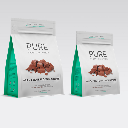 PURE WHEY PROTEIN POUCH - CHOCOLATE - PURE Sports Nutrition