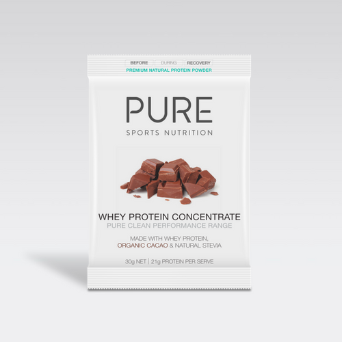 PURE WHEY PROTEIN CHOCOLATE 30G SACHET - PURE Sports Nutrition
