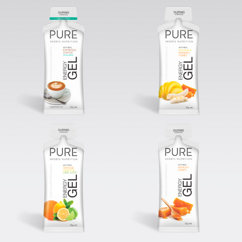 PURE Energy Gels 35g  Sample Pack