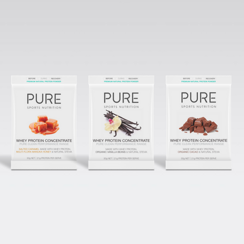 PURE WHEY PROTEIN 30G SACHET SAMPLE PACK - PURE Sports Nutrition