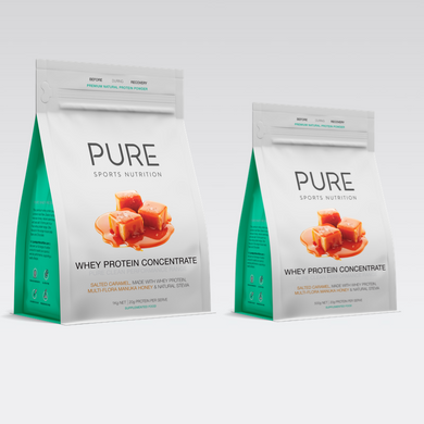 PURE WHEY PROTEIN POUCH - HONEY SALTED CARAMEL - PURE Sports Nutrition