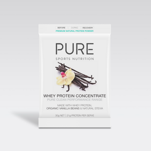 PURE WHEY PROTEIN VANILLA BEAN 30G SACHET - PURE Sports Nutrition