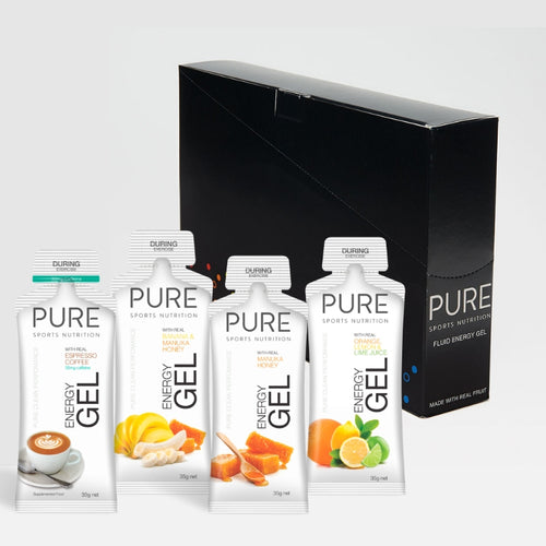 PURE ENERGY GELS 35g BOX (24 GELS) - PURE Sports Nutrition