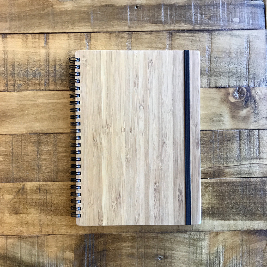 A5 MHI Bamboo Notebook (blank pages)