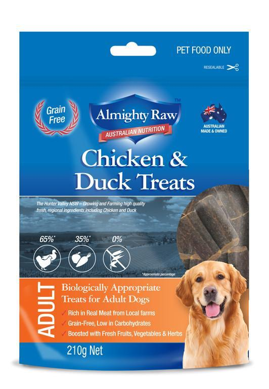 Almighty Raw Adult Dog Treats 210gm