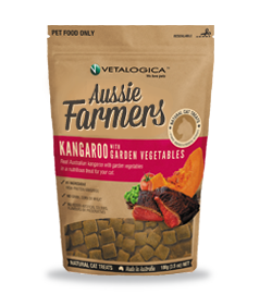Aussie Farmers - Kangaroo with Garden vegetables Treats for cats