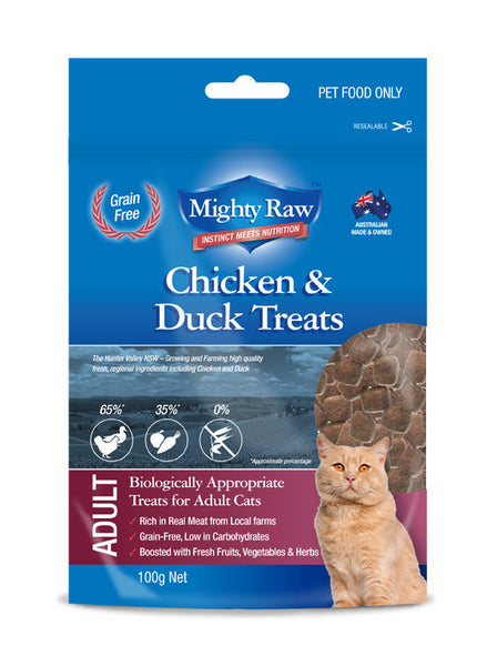 Mighty Raw Adult Cat Treats 100gm