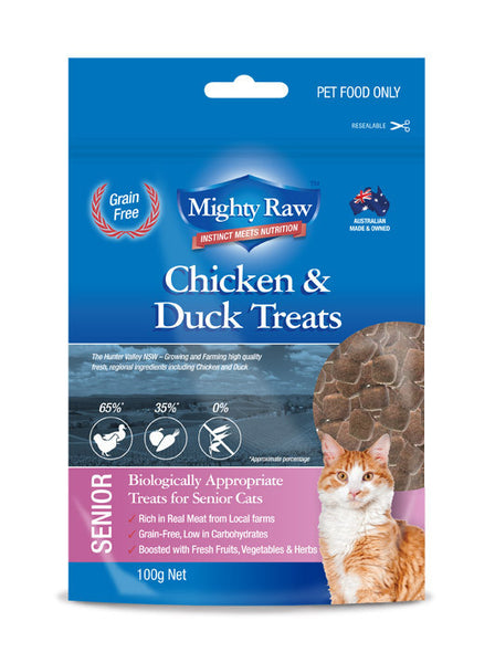 Mighty Raw Senior Cat Treats 100gm