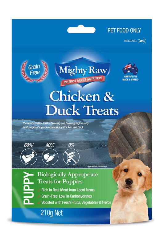 Mighty Raw Puppy Treats 210gm