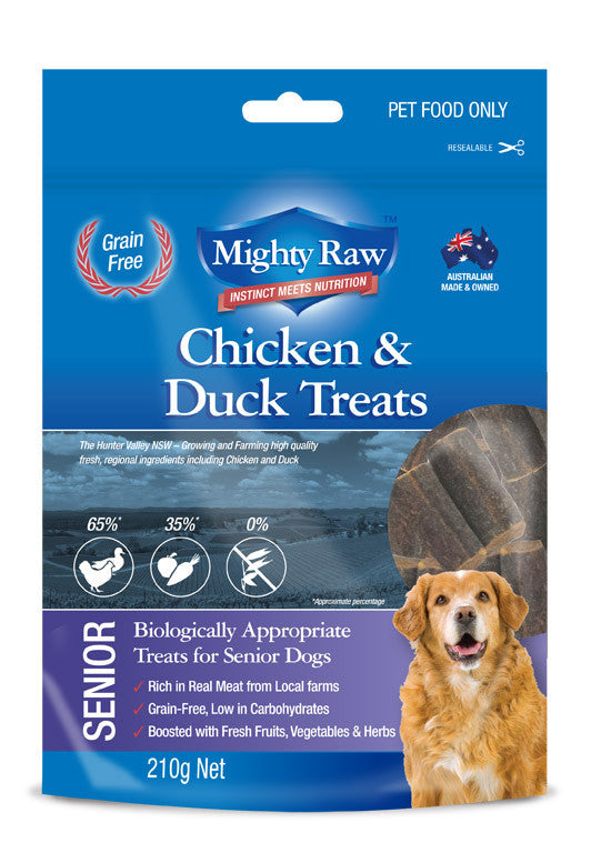Mighty Raw Senior Dog Treats 210gm