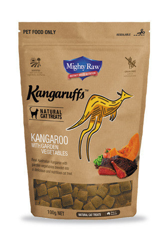 MR Kangaruffs - Kangaroo with Garden Veg Cat Treats 100g