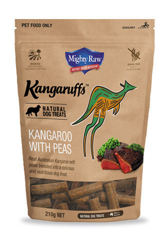 MR Kangaruffs - Kangaroo with Peas Dog Treats 210g