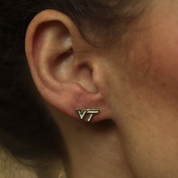 Earrings - Virginia Tech Classic Silver Earrings