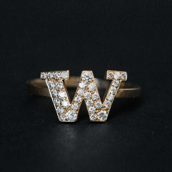 Ring - UW Diamond Dubs Up Gold Ring