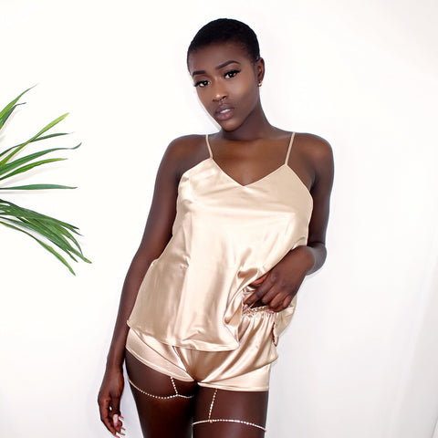 Champagne Wishes Satin Pyjama Set