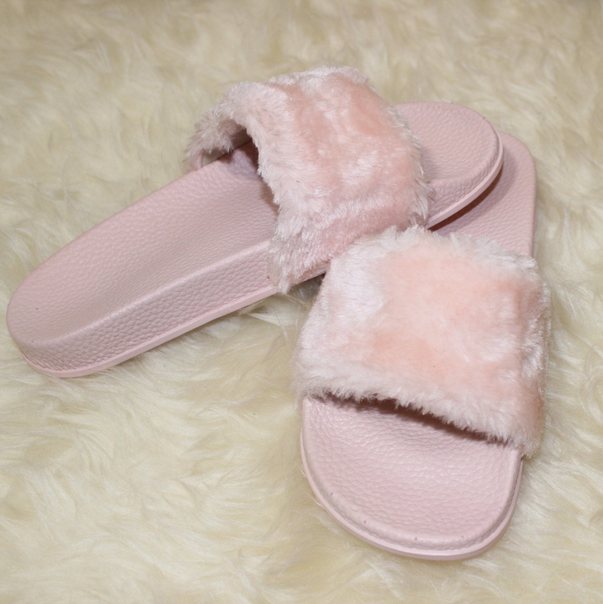 D*** Appointment Fur Slides in Pink