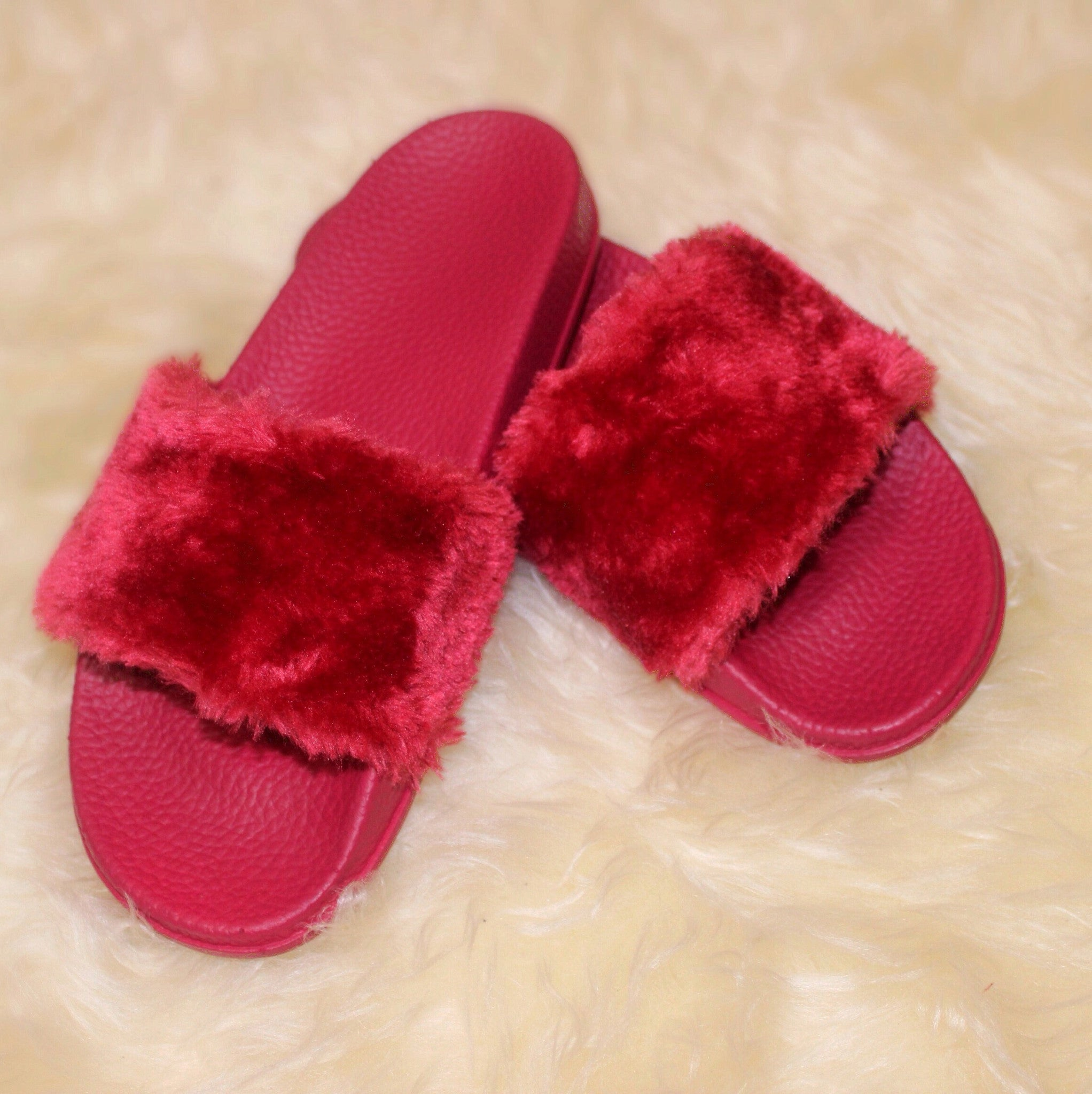 D*** Appointment Fur Slides in Red