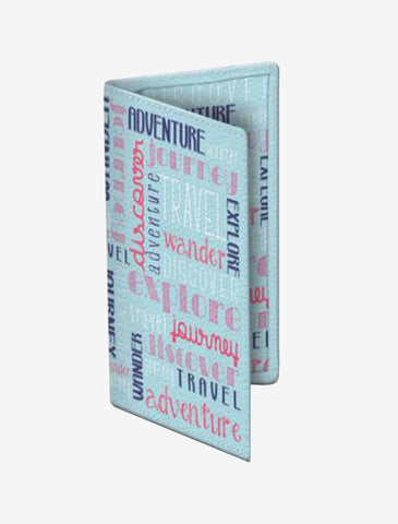 Adventure Words Passport Cover
