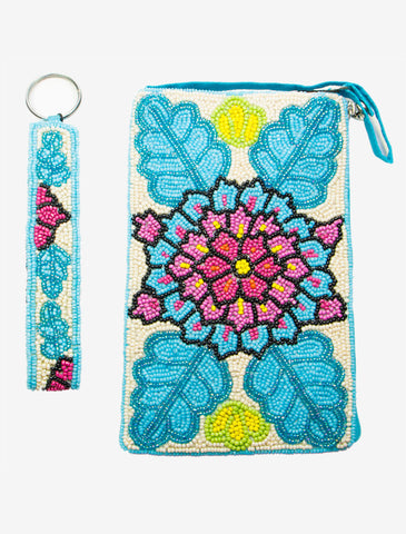 Beaded Club Bag & Matching Key Ring