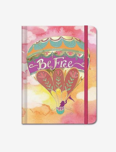 Words in Bloom Hard Cover Journal Be Free Balloon