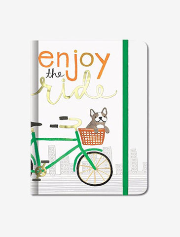 Doggie Enjoy The Ride Small Bungee Hardback Journal