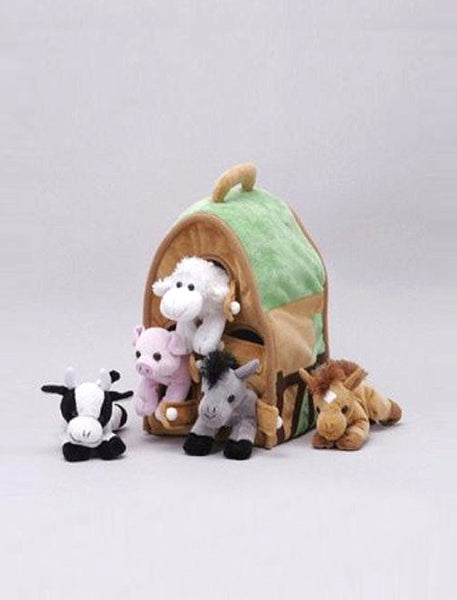 Farmhouse With 5 Stuffed Animals
