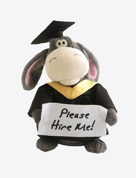 Animated Graduation Donkey Plush Cute Stuffed Animal