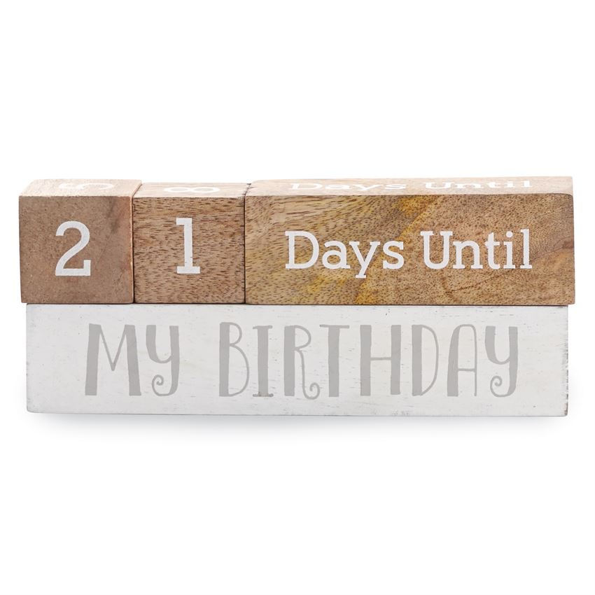Mud Pie Multi-Holiday Wooden Count Down Blocks - Christmas, Thanksgiving, Birthday, & Halloween