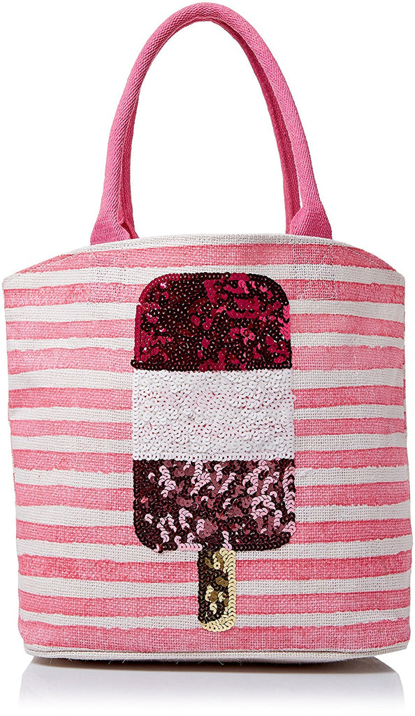 MUD PIE POPSICLE SEQUIN BEACH TOTE BAG