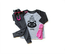 *Bean & Boo - Cat, Cinq Baseball Raglan
