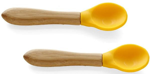 Avanchy- Baby silicon and bamboo feeding spoon