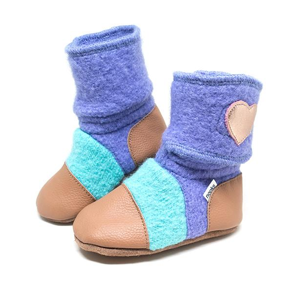 Nooks Design - Felted Wool Booties Velcro