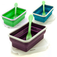 Eco Vessel- Collapsible Silicone Lunch Box- Single compartment